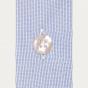 Chemise classique en popeline faux uni à carreaux bleus
