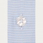 Classic fit blue houndstooth oxford shirt