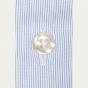 Slim fit semi plain thin blue stripes poplin shirt