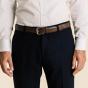 Brown full-grain leather belt