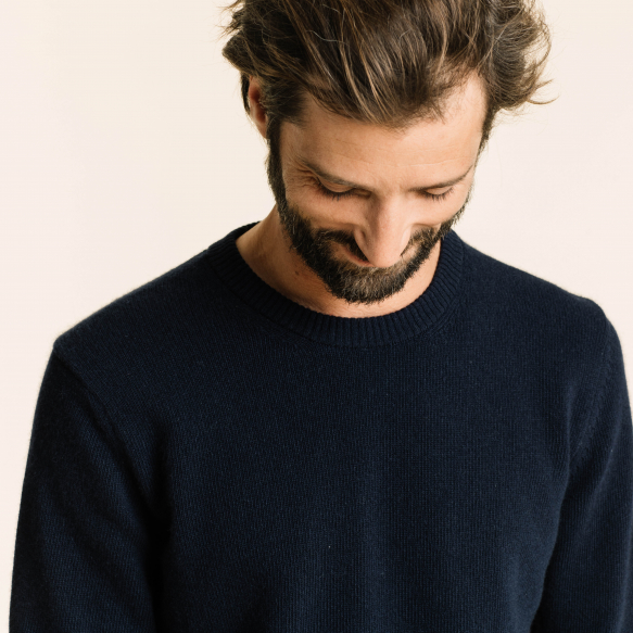 Blue merino wool jumper