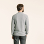 Light grey fine textured merino wool jumper
