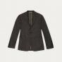 Brown wool flannel micro houndstooth jacket