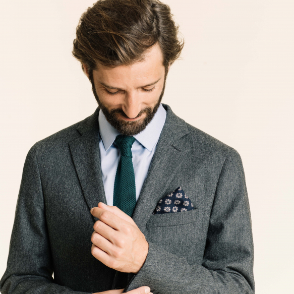 Blue pocket square with...