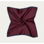 Burgundy houndstooth pocket square