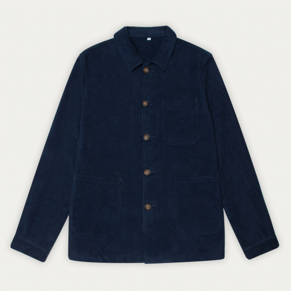 Blue flannel worker's jacket