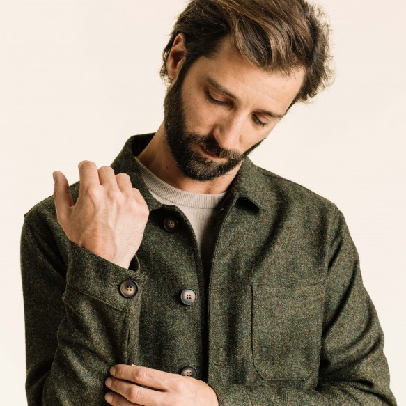 Green wool worker's jacket
