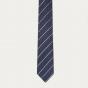 Textured blue stripes tie
