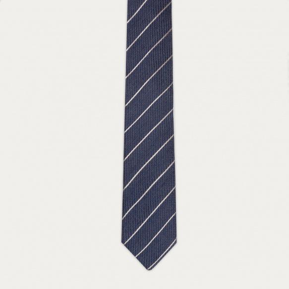 Cravate texturée bleue à...