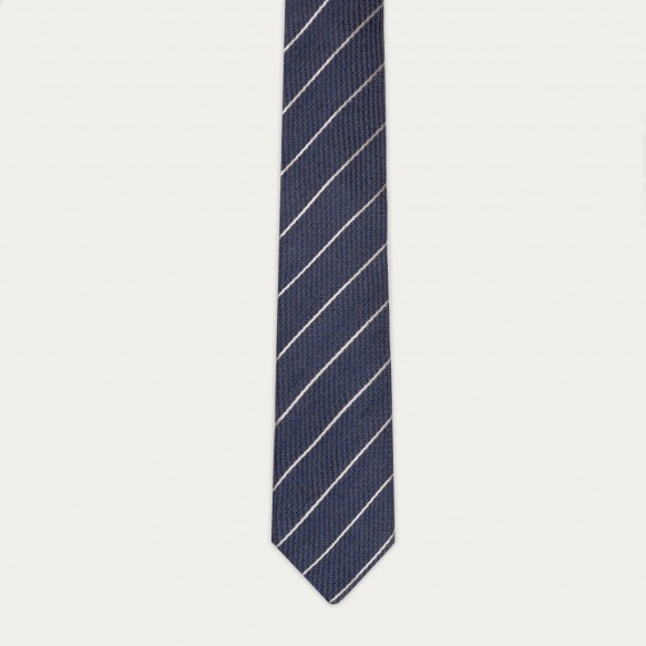 Textured blue stripes tie