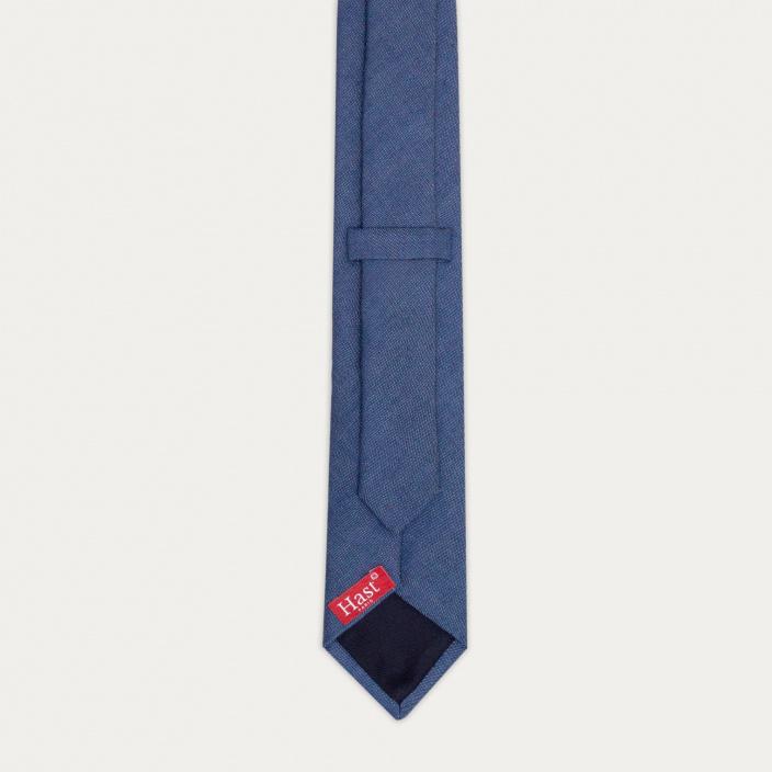 Cravate bleue en flanelle