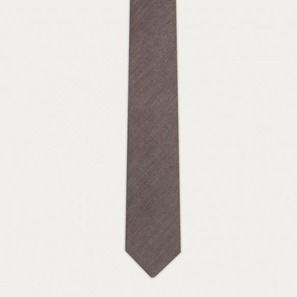 Cravate beige en flanelle