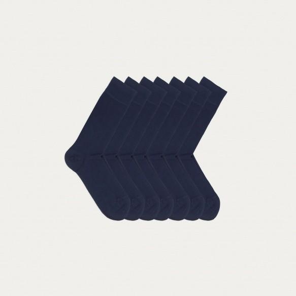 Semainier de chaussettes bleu marine