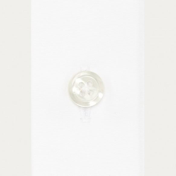 Chemise classique en popeline blanche poignets mousquetaires
