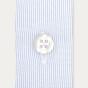 Double Cuff Blue Semi Plain Shirt