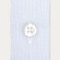 Chemise cintrée en popeline faux-uni à fines rayures bleues