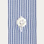Slim fit thin dark blue stripes poplin shirt