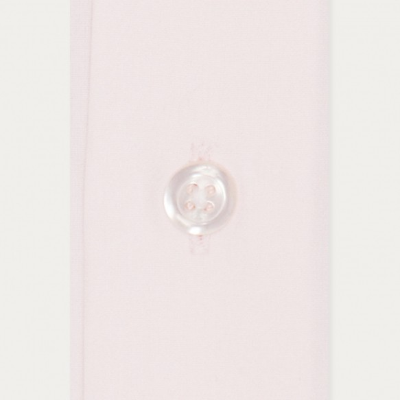 Slim fit light pink poplin...