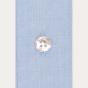 Slim fit blue fil-à-fil shirt