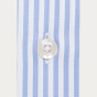 Blue Striped Shirt With French Collar