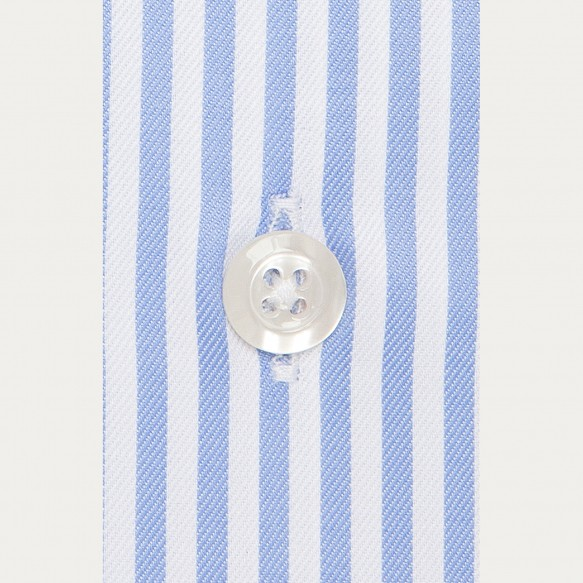 Blue Striped Shirt With...