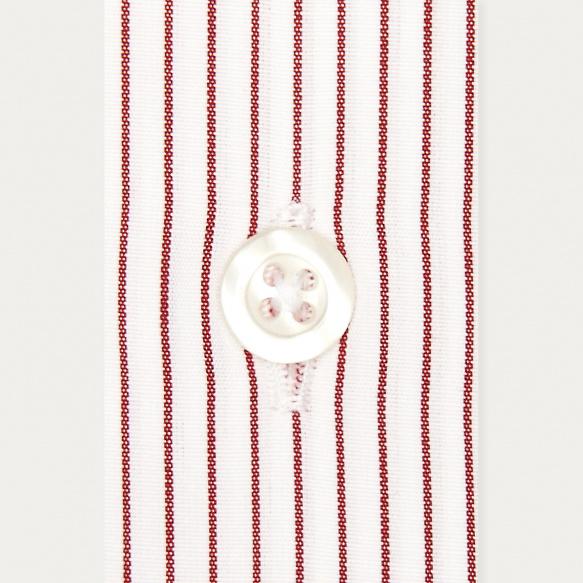 Chemise classique en popeline à fines rayures rouges