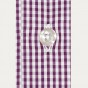 Classic fit purple gingham poplin shirt