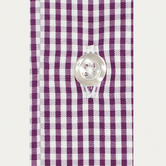 Classic fit purple gingham...