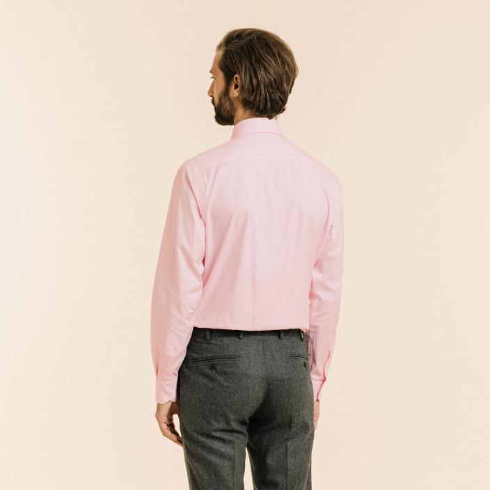Classic fit light pink oxford shirt