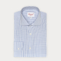 Classic fit dark blue checks poplin shirt