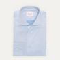 Classic fit blue twill shirt