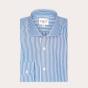 Classic fit dark blue stripes poplin shirt