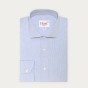 Extra-slim blue check semi plain shirt