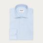 Slim fit premium blue pinpoint shirt