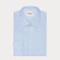 Light Blue Check Shirt With French Collar