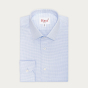 Slim fit blue micro houndstooth royal oxford shirt