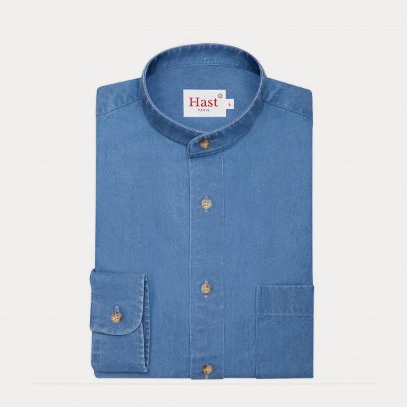 Chemise décontractée en denim bleue