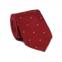 DARK-RED WHITE SPOT TIE