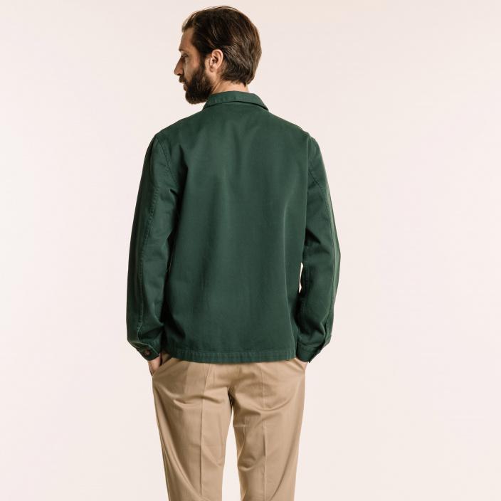 Green worker's jacket