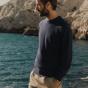 Blue thin merino wool jumper