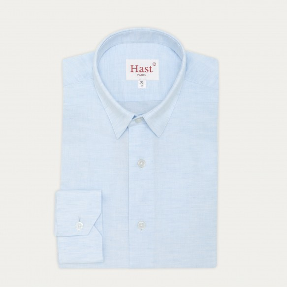 Slim fit linen and cotton...