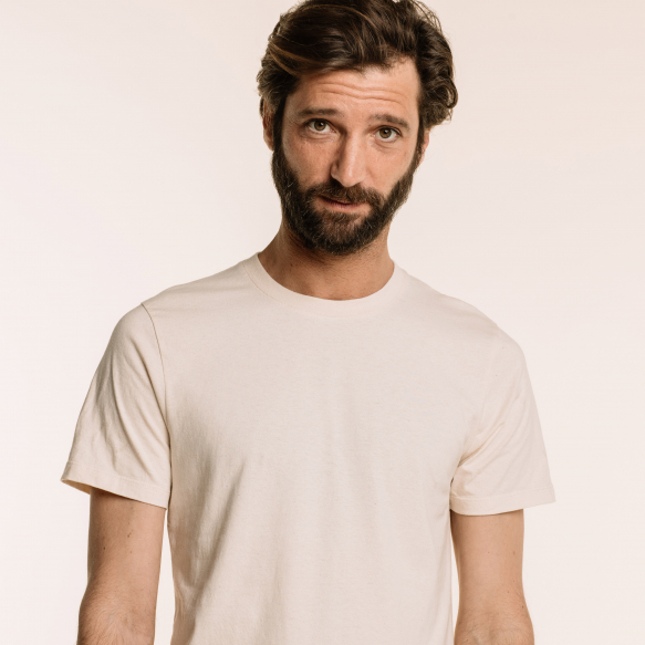 Ecru organic cotton T-shirt