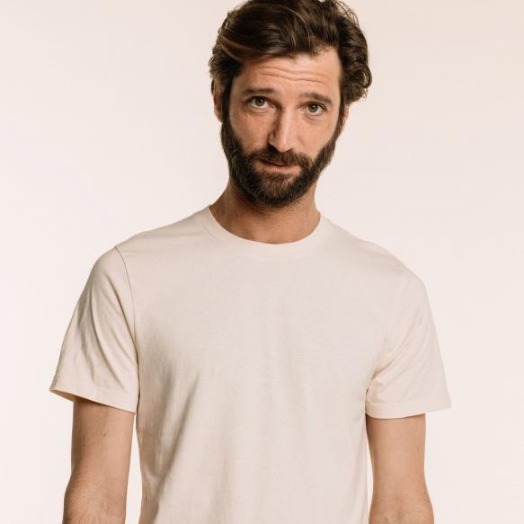 Ecru organic cotton T-shirt