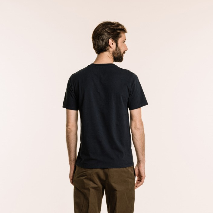 Tee-shirt en coton biologique bleu marine