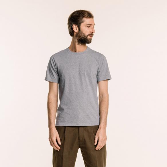 T-shirt en coton biologique gris