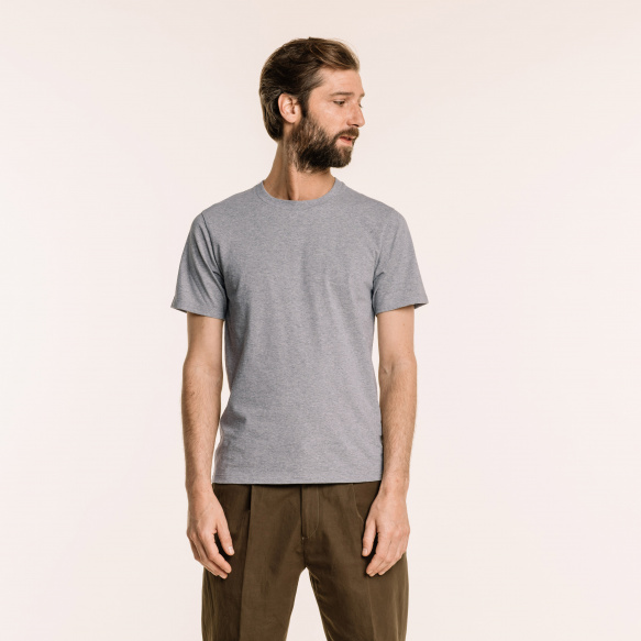 Grey organic cotton T-shirt