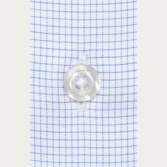 Slim fit thin blue check...