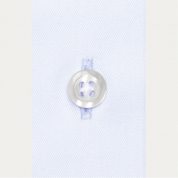 Chemise cintrée en twill bleu clair