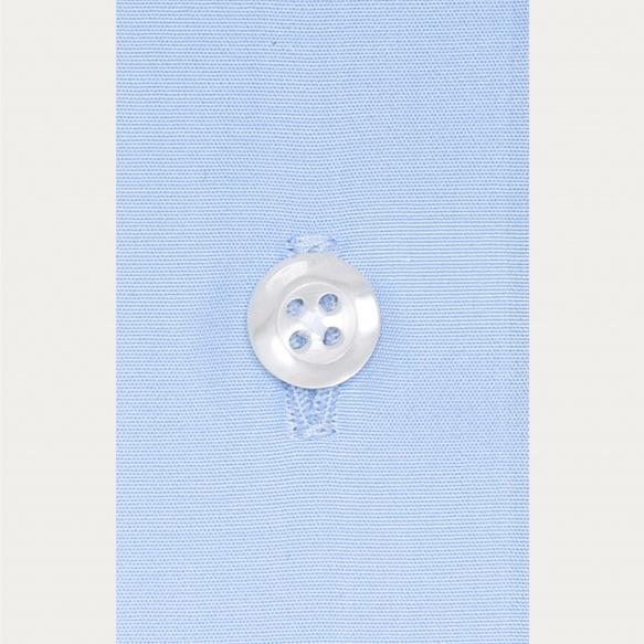Chemise cintrée en popeline bleue