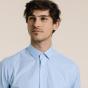 Classic fit poplin thin blue stripes shirt